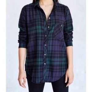 Urban Outfitters BDG Polly Plaid Flannel Shirt